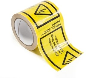 Raychem LAB-I-01/E/R Warning Label (English/Russian)